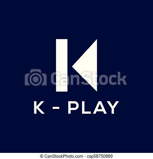 K Letter Logo Vector Abstract Logo Template
