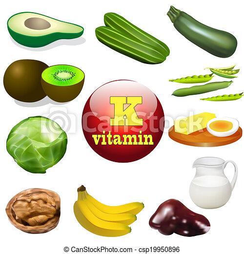 k, producten, vitamine, dier, plant - csp19950896