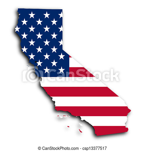 kaart, californië - csp13377517