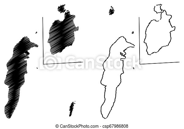 kaart, catalina, san andres, providencia, archipel, vector, kerstman - csp67986808