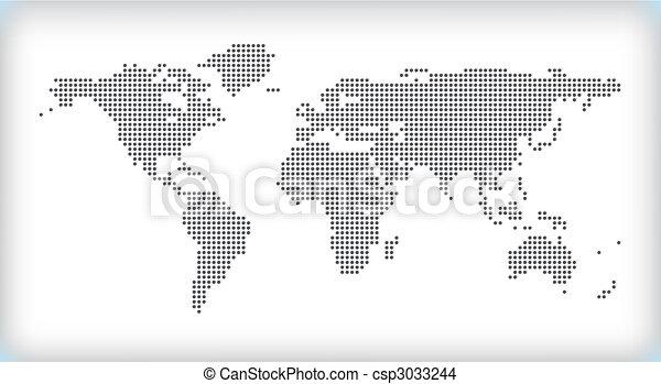 kaart, dotted - csp3033244