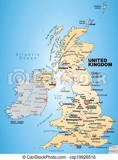Interactieve Kaarten Van Groot Brittannie
