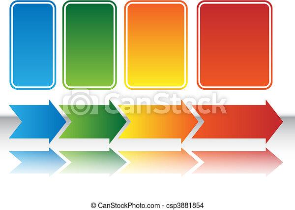 kaart, hitte, tabel, richtingwijzer - csp3881854