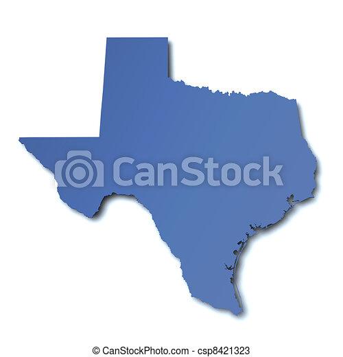 kaart, -, texas, usa - csp8421323