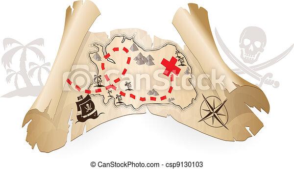 kaart, zeerover - csp9130103