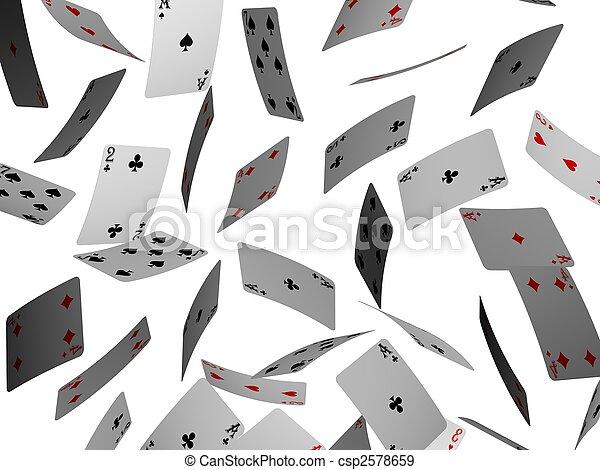 kaarten, pook - csp2578659