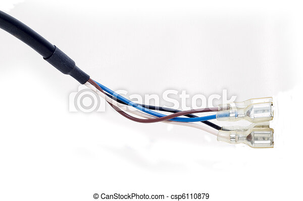 Kabel, bündel. Zusammen, drähte, verdreht, kabel, mehrfarbig ...