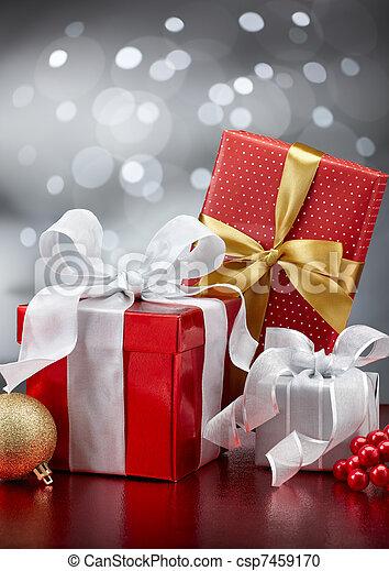 kadootjes, kerstmis - csp7459170