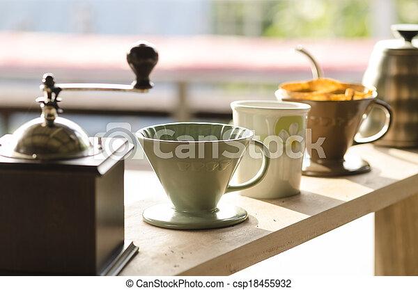 kaffe, droppa - csp18455932