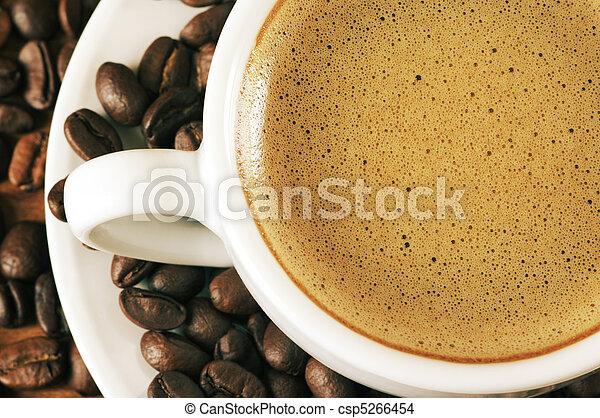 kaffe, närbild, kopp - csp5266454