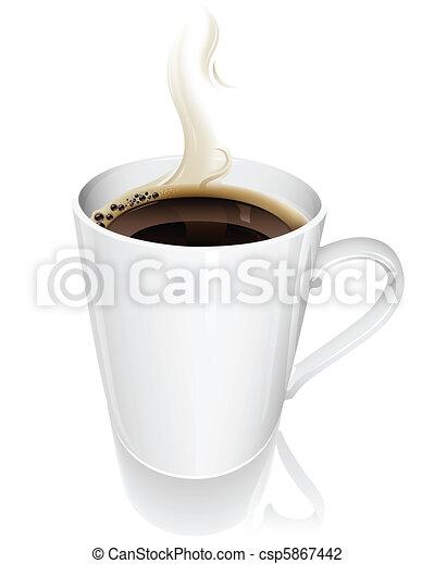 Eine Tasse Kaffee - csp5867442