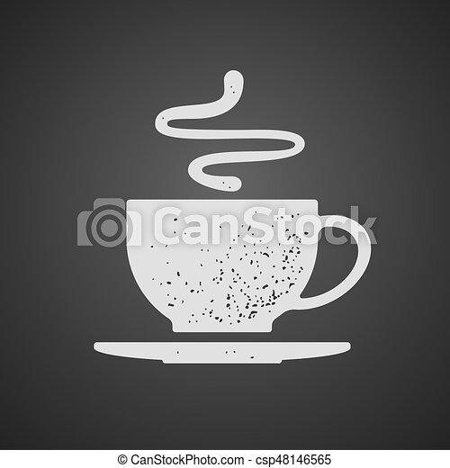 Kaffeetasse Tee Vektor Tafel Gezeichnet Oder Bohnenkaffee