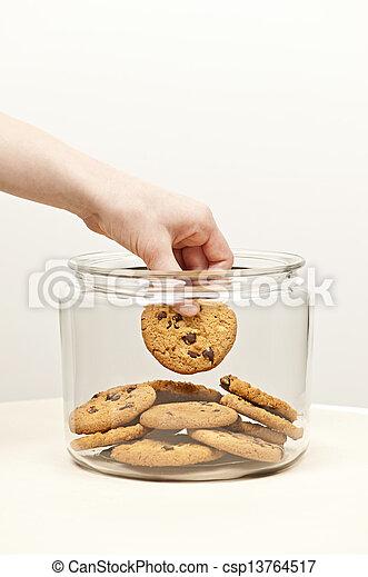 kaka, småkakor, kruka, stöld - csp13764517