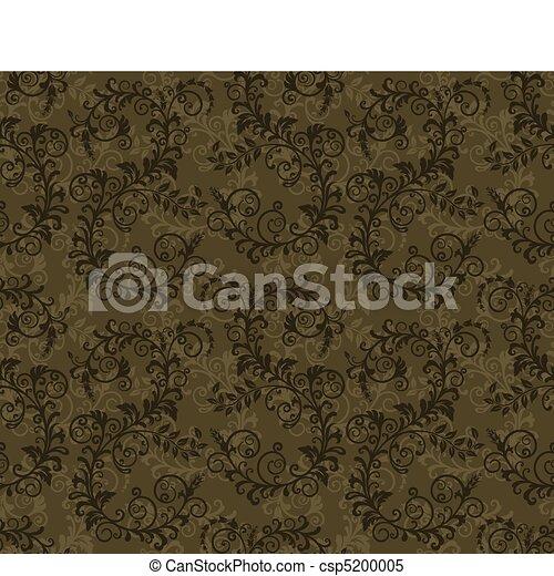 kaki, vert, seamless, feuillage - csp5200005