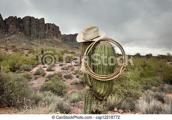 kaktusz, lasszó - csp12218772