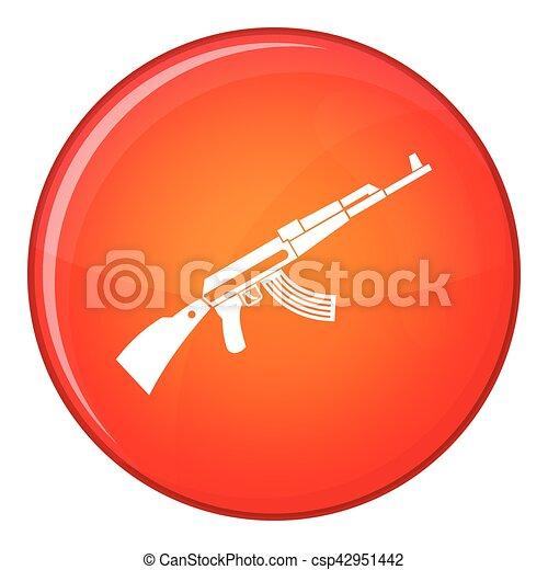 Kalashnikov machine icon, flat style - csp42951442