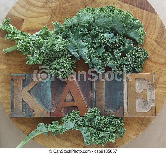 kale leaves with word - csp9185057
