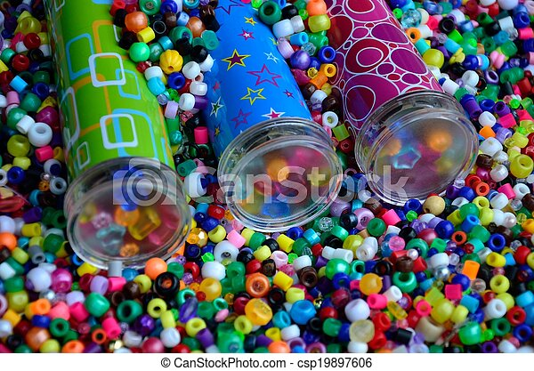 Kaleidoscopes in beads - csp19897606
