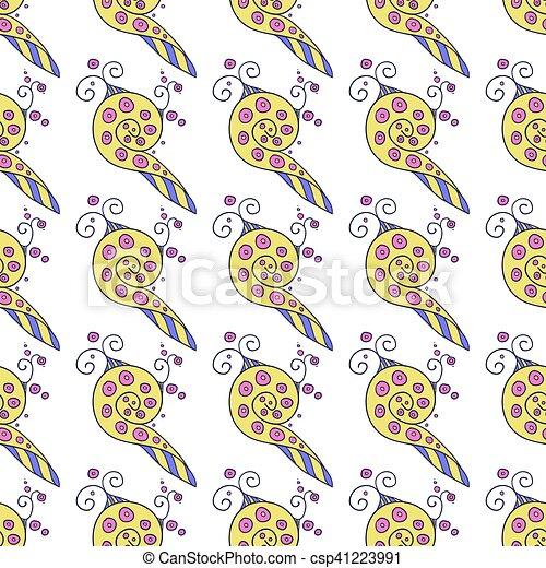 kaleidoscopic floral pattern - csp41223991