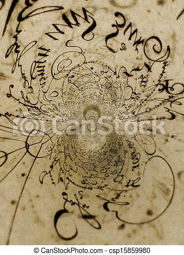 Kaleidoscopic Handwriting - csp15859980