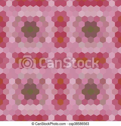 Kaleidoscopic low poly hexagon style vector mosaic background - csp38586563