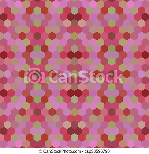 Kaleidoscopic low poly hexagon style vector mosaic background - csp38596790