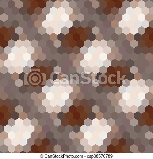 Kaleidoscopic low poly hexagon style vector mosaic background - csp38570789