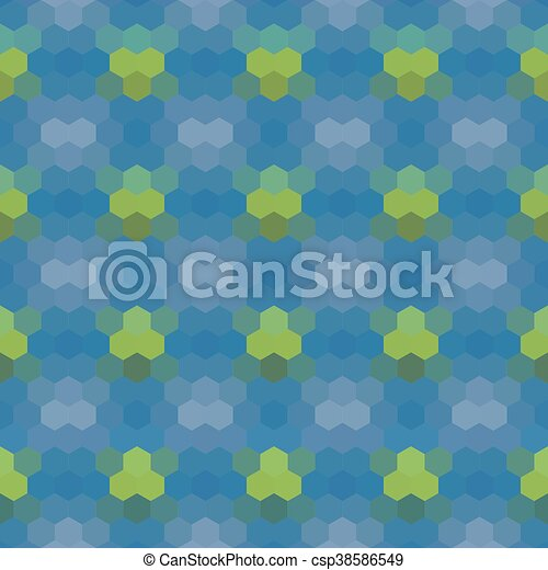 Kaleidoscopic low poly hexagon style vector mosaic background - csp38586549