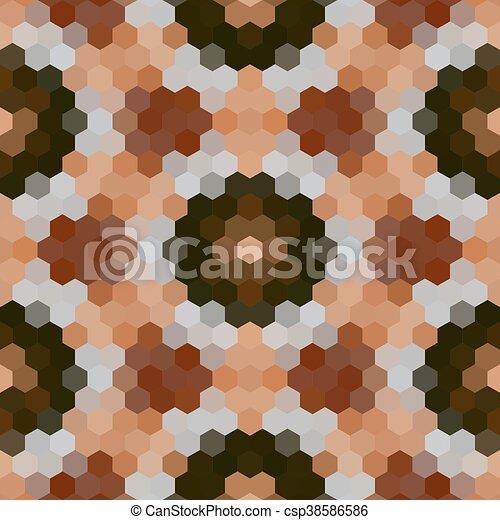 Kaleidoscopic low poly hexagon style vector mosaic background - csp38586586
