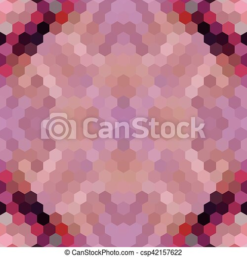 Kaleidoscopic low poly hexagon style vector mosaic background - csp42157622