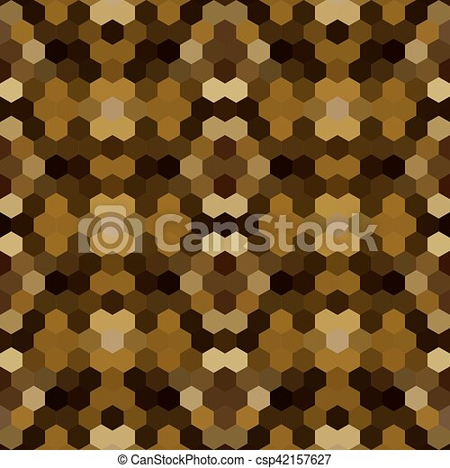 Kaleidoscopic low poly hexagon style vector mosaic background - csp42157627