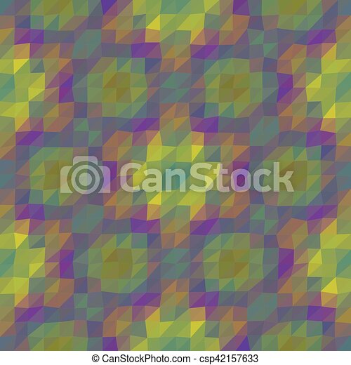 Kaleidoscopic low poly triangle style vector mosaic background - csp42157633