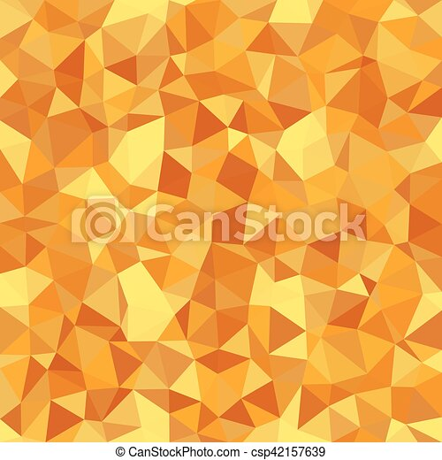 Kaleidoscopic low poly triangle style vector mosaic background - csp42157639