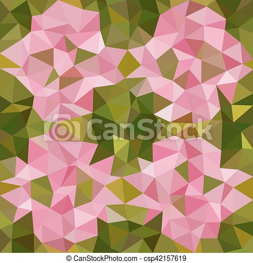 Kaleidoscopic low poly triangle style vector mosaic background - csp42157619