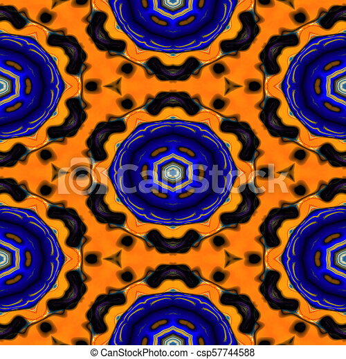 Kaleidoscopic ornamental pattern - csp57744588