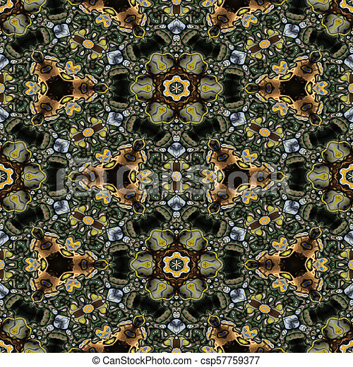 Kaleidoscopic ornamental pattern - csp57759377