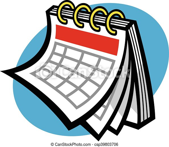 Kalendarz wektor harmonogram ikona wektorowy klipart for Clipart calendario