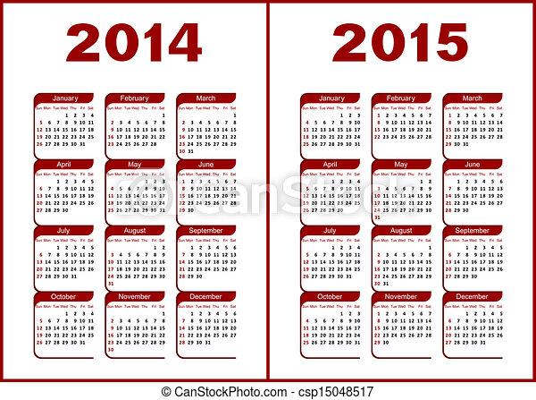 kalender, 2014 - csp15048517