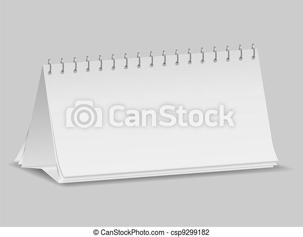 kalender, leeg, bureau - csp9299182