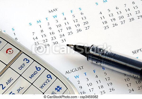 Wählen Sie den Termin und markieren Sie ihn im Kalender - csp3459382