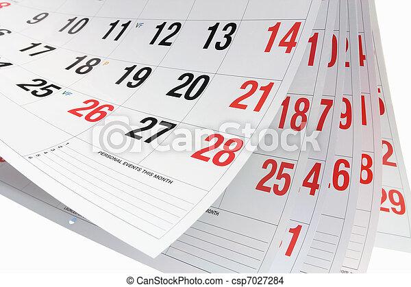 kalender, pagina's - csp7027284