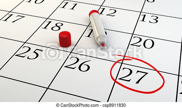 Ein Terminkalender - csp8911830