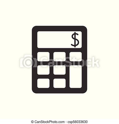 kalkulator, czarnoskóry, ikona - csp56033630