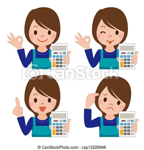 kalkulator, gospodyni - csp13226946