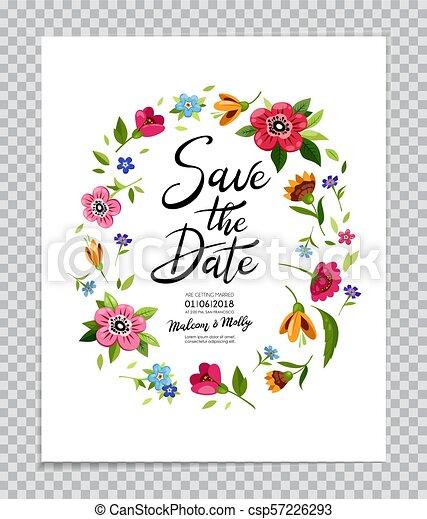 Kalligraphie Card Hochzeitskarten Datum Retten Beschriftung