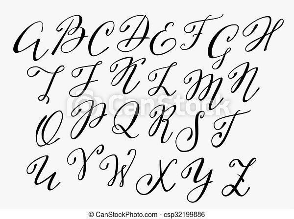 Kalligraphie Schriftart Schnorkel Handgeschrieben Dekorativ