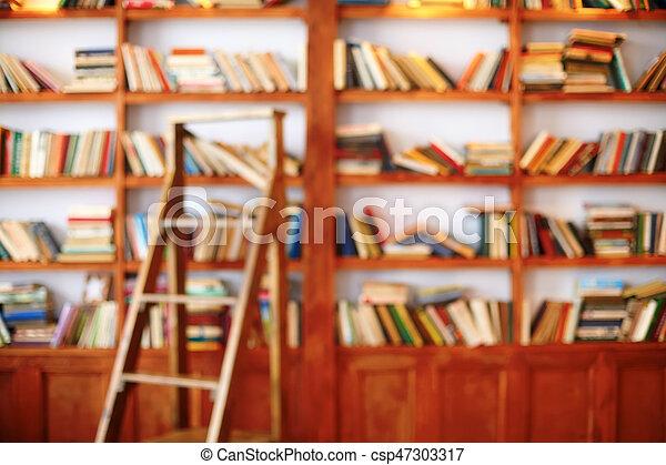 De Bibliotheek Kamer : Kamer bibliotheek boekjes defocused achtergrond bookshelf