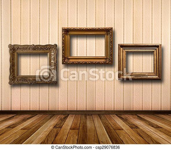 Plank Voor Lijstjes.Kamer Goud Houten Behang Interieur Lijstjes Gestreepte