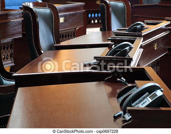 kamer, vergadering, regering, / - csp0697228