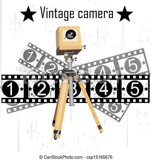 kamera, vektor, za - csp15165676